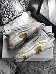 Женские кроссовки Balenciaga Triple S White Gray. Живое фото (Реплика ААА+), фото 6