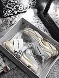 Женские кроссовки Balenciaga Triple S White Gray. Живое фото (Реплика ААА+), фото 4