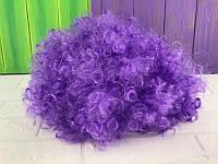 """Парик карнавальный короткий """"Клоун"""" цвет фиолетовый"""
