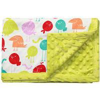 Одеяльце двухстороннее BabyOno Пузырьки микрофибра 75х100 см Зеленый (1407/03)