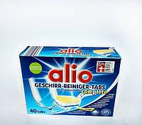 Таблетки для посудомойки Alio Geschirr-reiniger-tabs complete 40 st