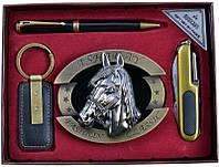 Подарочный набор Moongrass Пепельница, ручка, брелок, нож 727