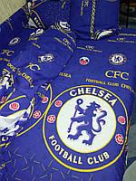Футбольное постельное белье Комплект «Челси»   (1,5 спальный )