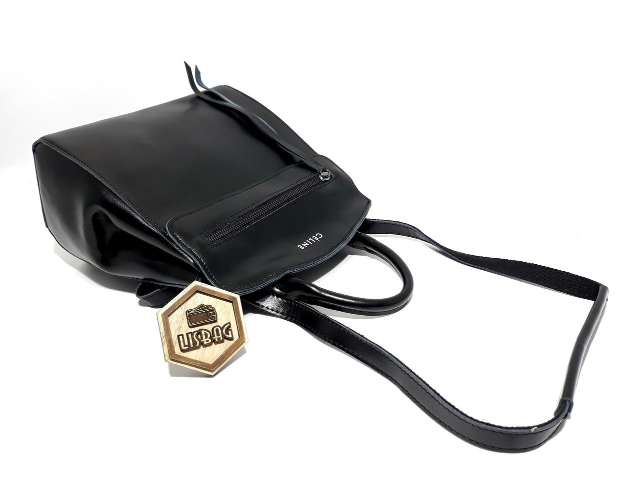 bdac71e4a772 Женский повседневный классический рюкзак-сумка Céline из натуральной кожи,цвет  Черный, ...
