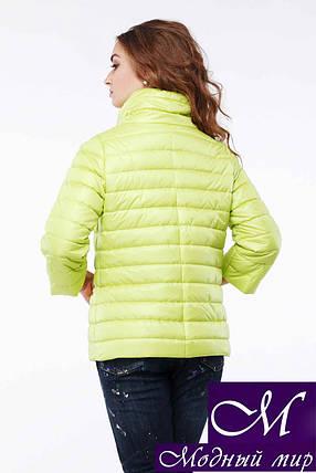 Женская желтая весенняя куртка (р. 42-54) арт.Фарида, фото 2