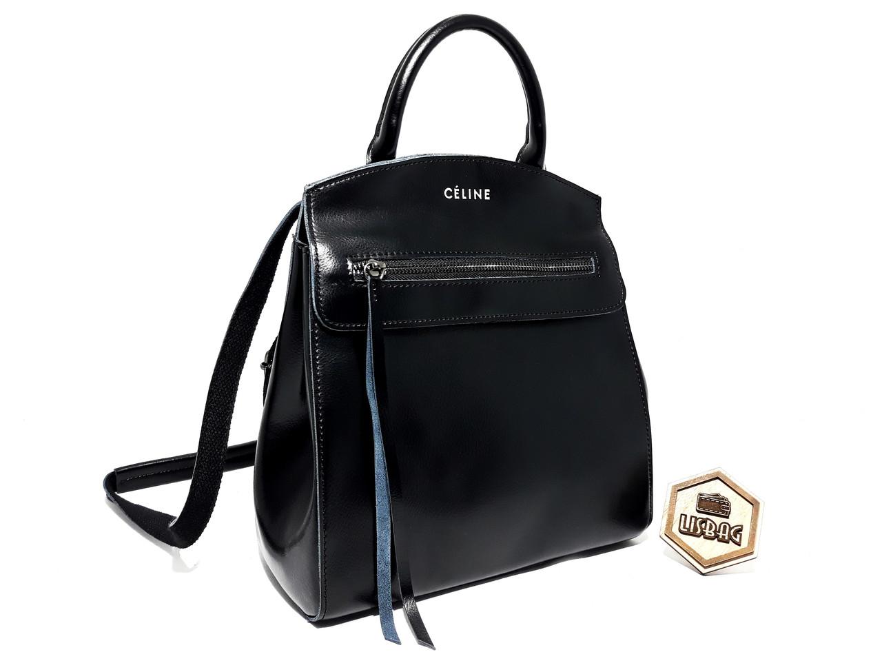 4aa673d2670d Женский повседневный классический рюкзак-сумка Céline из натуральной кожи,цвет  Черный