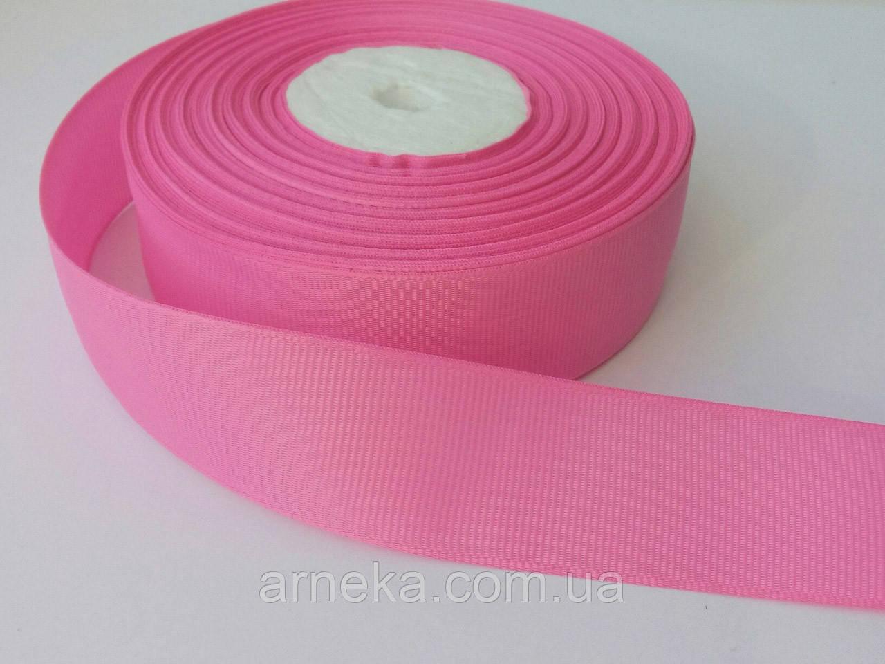 Репсова стрічка 2,5 см рожева