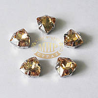 Cтразы в цапах Триллиант, размер 12мм, цвет Golden Shadow, 1шт
