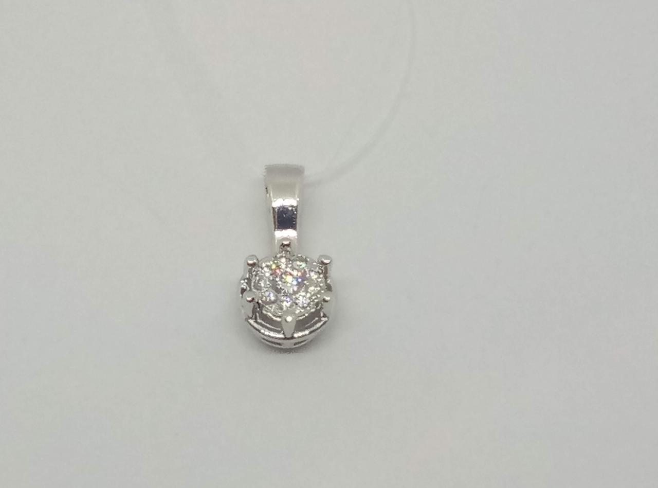 Серебряная подвеска с фианитом. Артикул 903-00514