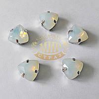Камни в цапах Триллиант, размер 12мм, цвет White Opal, 1шт
