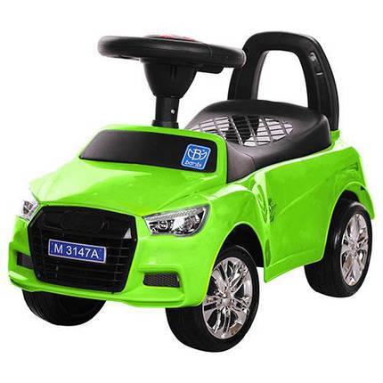 Толокар Audi  (Bambi 3147 А-5) Зеленый, MP3, свет фар, фото 2
