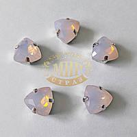 Камни в цапах Триллиант, размер 12мм, цвет Pink Opal, 1шт