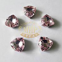 Камни в цапах Триллиант, размер 12мм, цвет Lt Rose, 1шт