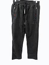 Брюки теплые Shooter прямые зимние мужские спортивные штаны Шутер  Серые с красной надписью на карманах