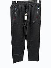 Брюки теплые Shooter прямые зимние мужские спортивные штаны Шутер  Серые с косыми полосками на карманах
