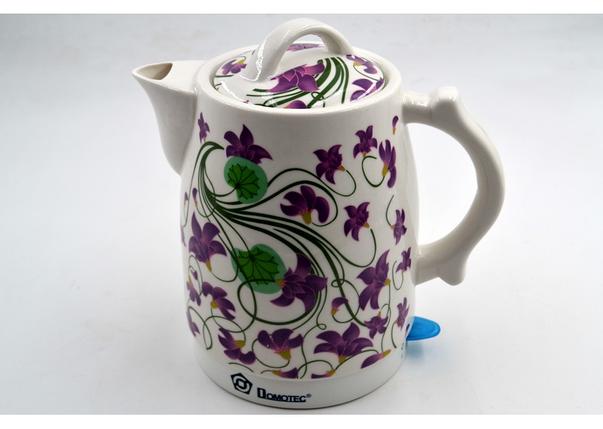 Керамический чайник с цветами Domotec MS-5059 (2 л / 1500 Вт) популярный красивый дизайн, фото 2