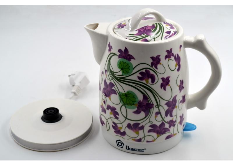 Керамический чайник с цветами Domotec MS-5059 (2 л / 1500 Вт) популярный красивый дизайн