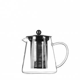 Чайник стеклянный заварочный с нержавеющим ситечком Helios 750 мл (6816)