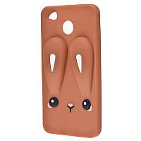 3D чехол для Xiaomi Redmi 4X заяц коричневый