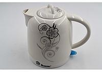 Красивый элегантный керамический чайник электрический Domotec MS-5058 (1.7 л / 1500 Вт)