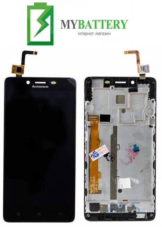 Дисплей (LCD) Lenovo A6010 с сенсором черный + рамка