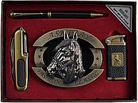Подарочный набор Moongrass Пепельница, ручка, зажигалка, нож 730