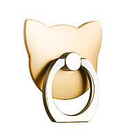 Кольцо держатель для телефона Combo Cat золото