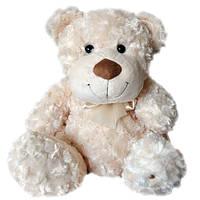 Мягкая игрушка - МЕДВЕДЬ (белый, с бантом, 33 см)