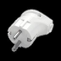 Вилка электрическая угловая разборная VIKO с заземлением 16А/220В Белый (90304200)
