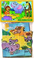 """Пазлы 12 """"В мире животных"""" в пакет"""