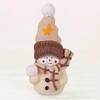 """Шоколадная фигура """"Снеговик"""" ЭЛИТНОЕ сырье. Размер: 135х70х55мм, вес 170г, фото 1"""