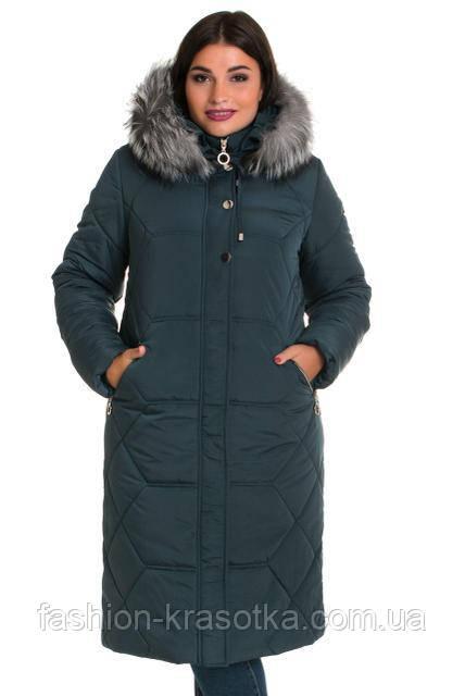Модный женский зимний пуховик в размерах 48-66