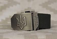 Тактический брючной ремень Слава Украине с пряжкой tactical olive (slava-olive), фото 3