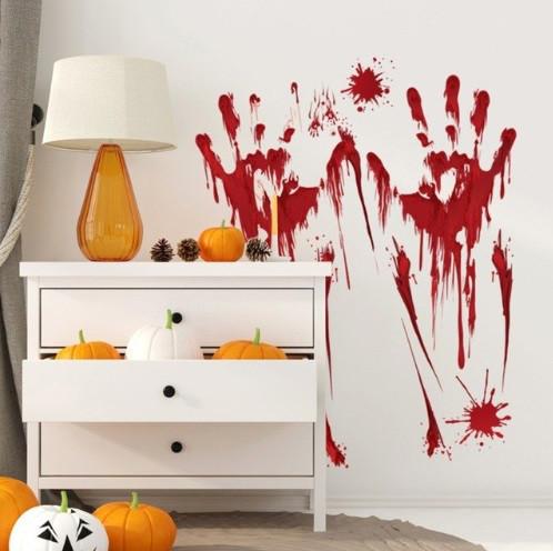 """Наклейка для Хэллоуина """"Кровавые следы"""" - размер наклейки 44*30см, расклеивать можно на свое усмотрение"""