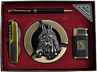 Подарочный набор Moongrass Пепельница, ручка, зажигалка, нож 731