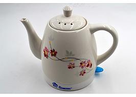 Чайник Domotec MS-5054 (1.5 л / 1500 Вт) электрочайник керамический с цветочным принтом