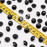 Пуговицы круглые чёрные на ножке 13 мм , фото 2