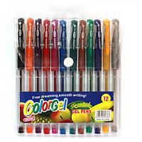 Ручка гелева, перламутр, набір 12 кольорів, 22650-12, Імп