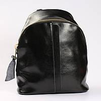 """Повседневный  кожаный рюкзак черного цвета """"Салли Black"""""""