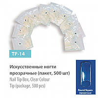 Искусственные ногти (типсы) SPL,    прозрачные 500 шт, TP-14