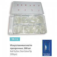 Искусственные ногти (типсы) SPL, прозрачные 500 шт., TP-12