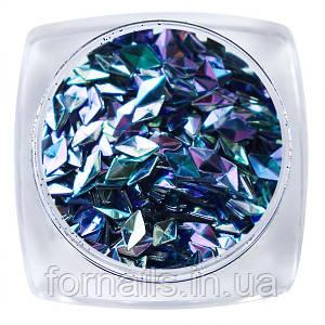 Komilfo 3D Чешуя Дракона №001, диамант, Light sapphire AB, (1 г)