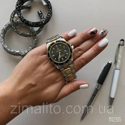 РЕПЛИКА Часов Rolex Black серебристо-золотистые
