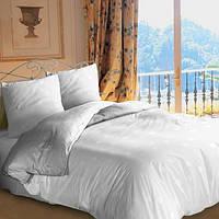 Постельное бельё для отеля  белое однотонное 100% хлопок двухспальное (Л.Ю.Б.)