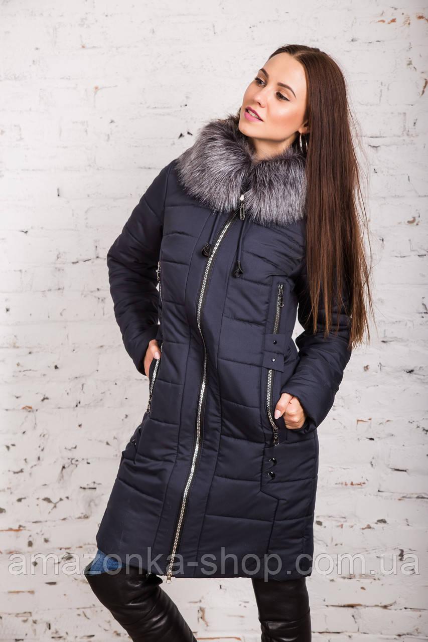 Теплое женское пальто сезона зима 2019 - (модель кт-317)