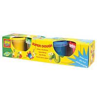 Незасыхающая масса для лепки - КЛАССИК (4 цвета, в пластиковых баночках)