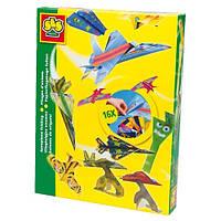 Набор для творчества (оригами) - САМОЛЕТЫ (цветная бумага, подставки под модели)