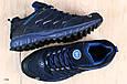 Мужские кроссовки, натуральный нубук синие, фото 2