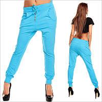 Женски голубые штаны с мотней