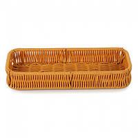 Плетённая корзинка для столовых приборов коричневая Helios